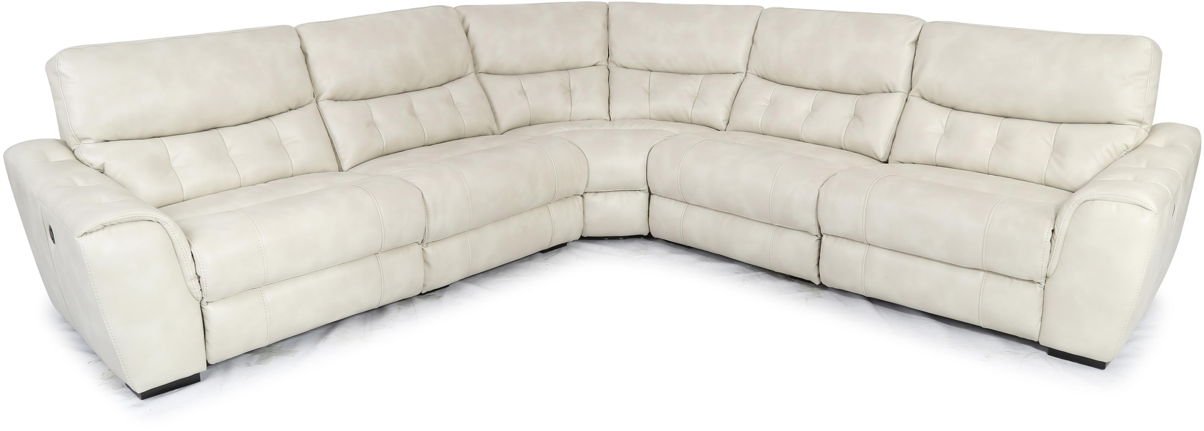 1005 Contemporary Power Reclining Sectional by Cheers at Lagniappe Home Store