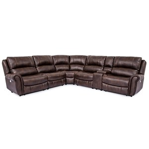 Power Reclining Sectional with Power Headrests and USB