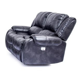 Dual Power Reclining Loveseat with Power Headrests
