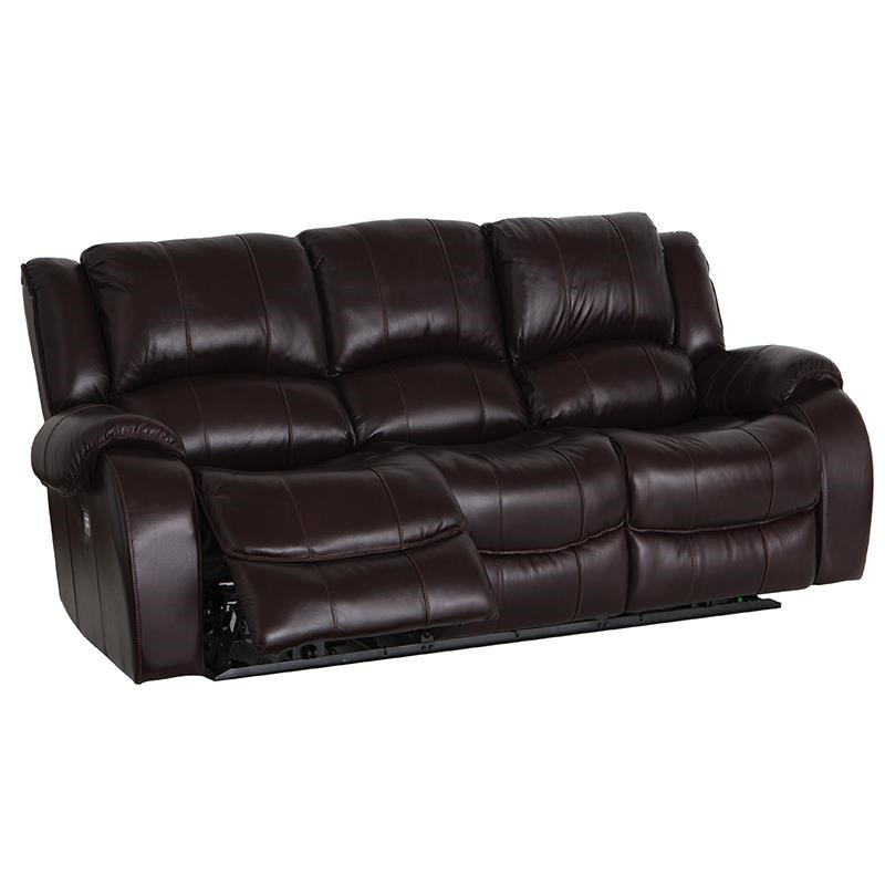 Dual Power Reclining Sofa with Power Headrests