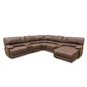 7 Piece Reclining Sectional with Power Head & Foot Rests