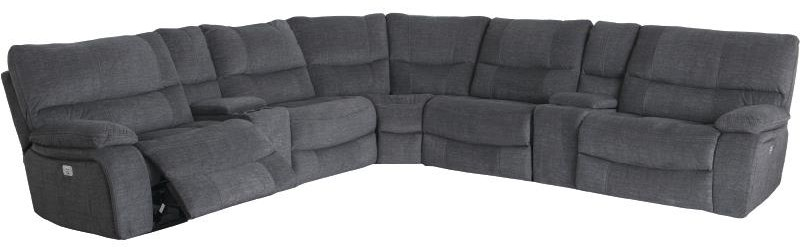 9706 7 Piece Power Reclining Sectional by Cheers at Darvin Furniture