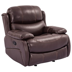 Glider Recliner with Pillow Arms