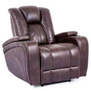 Power Recliner with Arm Storage Compartments