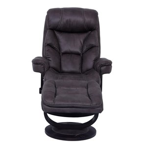 Pushback Recliner with Swivel Base and Ottoman