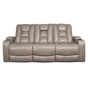 Modern Power Sofa with Power Headrest and Cupholders