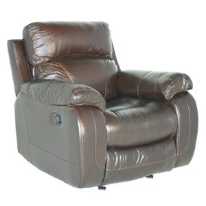 Casual Split Back Glider Recliner with Pillow Arms