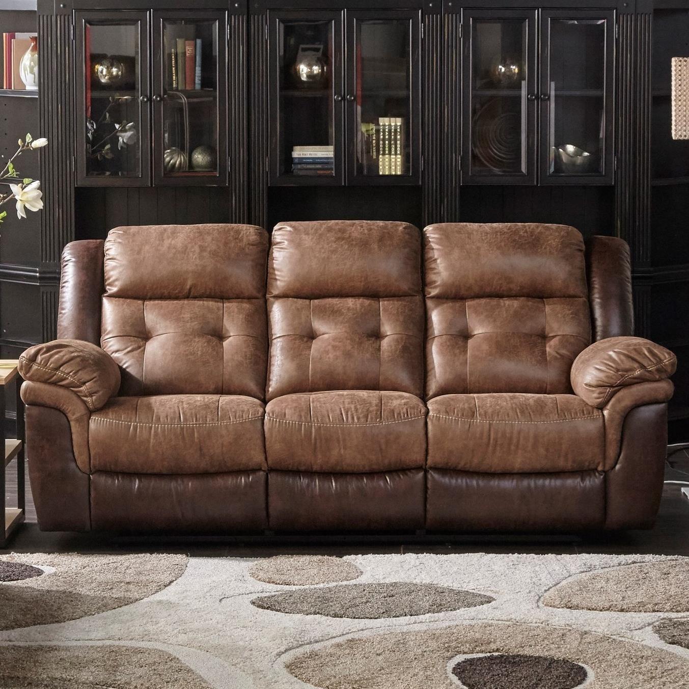Dual Two Tone Reclining Sofa