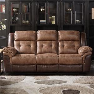 Dual Two Tone Reclining Sofa