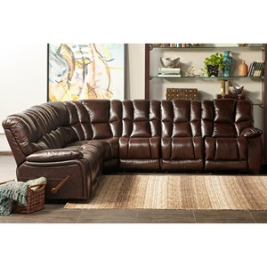 7 Piece Motion Sectional with Drop Down Table and USB Port