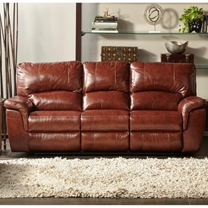 Dual Power Reclining Sofa with Pillow Arms