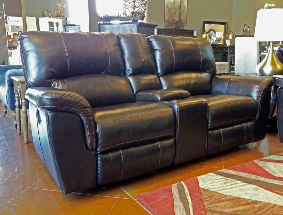 3 Piece Leather Reclining Console Loveseat
