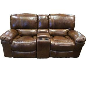 Casual Power Reclining Loveseat with Storage Console