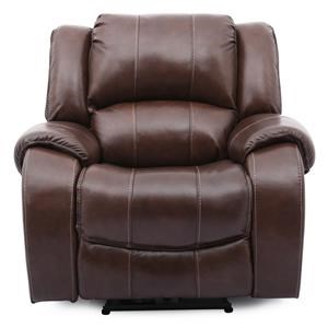 Brown Leather Power Recliner Rocker with Power Headrest