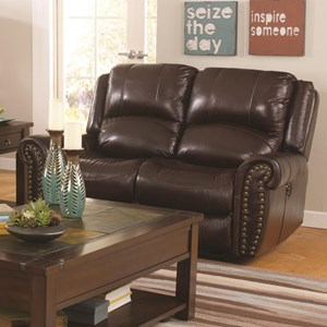 Power Reclining Loveseat With Power Headrests From The Jeff Foxworthy Collection