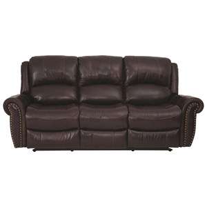 Power Reclining Sofa With Power Headrests From The Jeff Foxworthy Collection