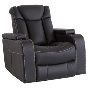 Power Recliner with Power Headrest and LED Lights