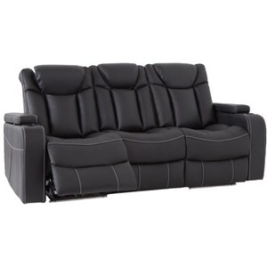 Power Reclining Sofa with Power Headrest and Drop-Down Power Console