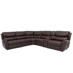 Power Reclining Sectional with USB Port