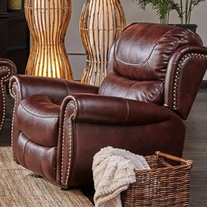 Glider Recliner with Nailhead Trim