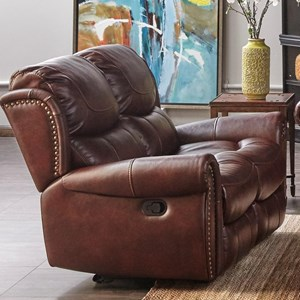 Dual Motion Loveseat with Nailhead Trim