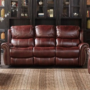 Dual Reclining Sofa with Nailhead Trim