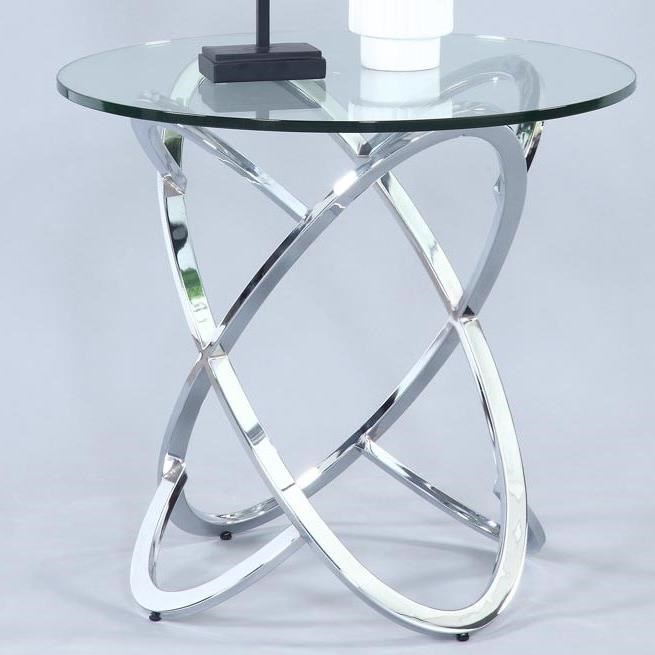 4036 Round Lamp Table by Chintaly Imports at Corner Furniture