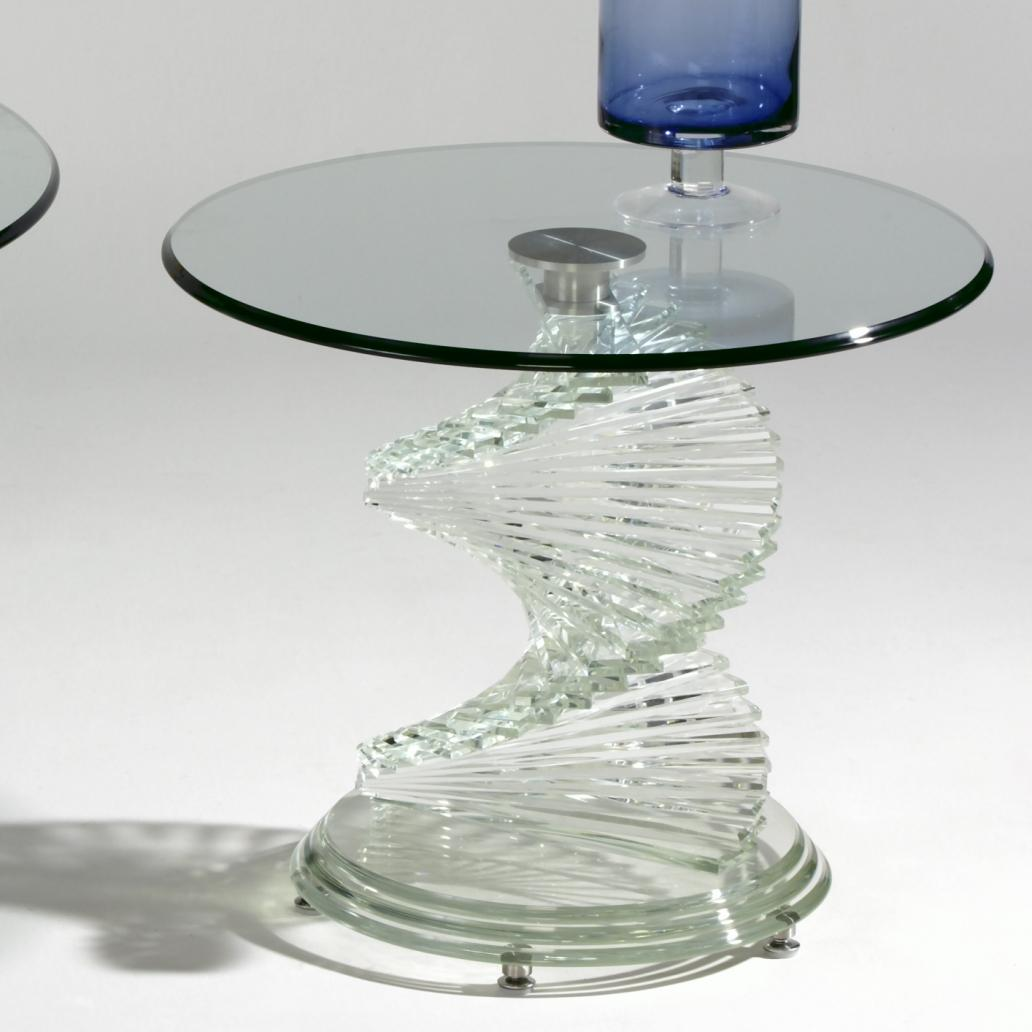 7201  Glass Lamp Table by Chintaly Imports at Corner Furniture