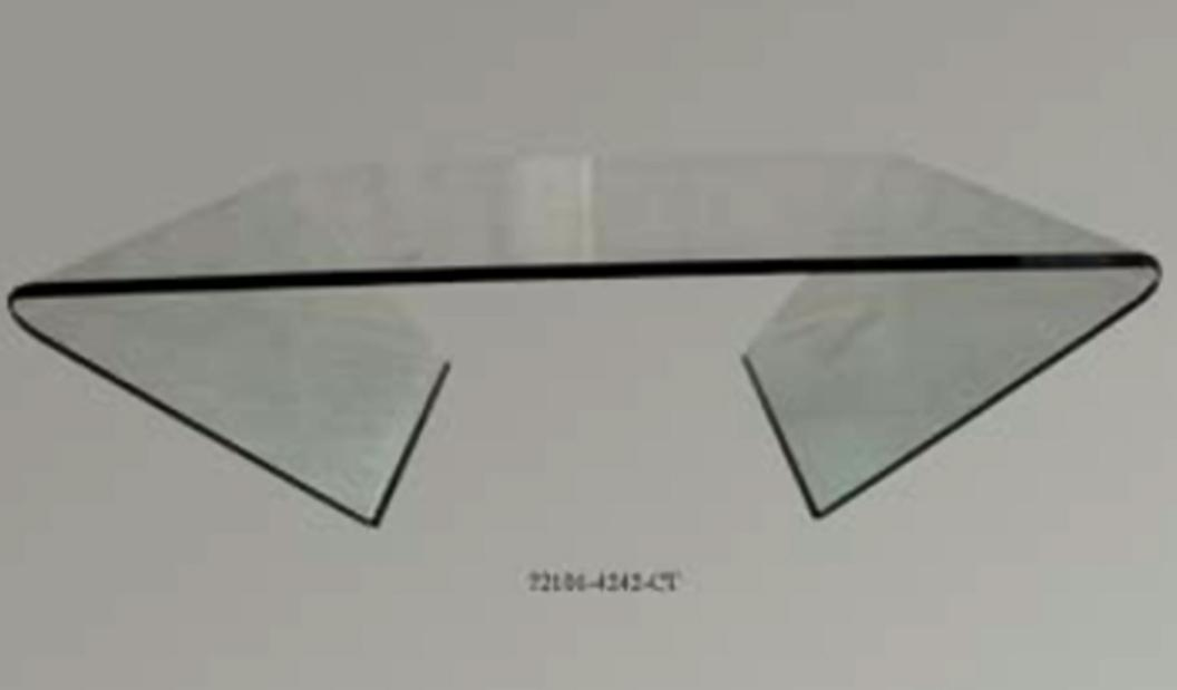 72102 Glass Square Cocktail Table by Chintaly Imports at Corner Furniture
