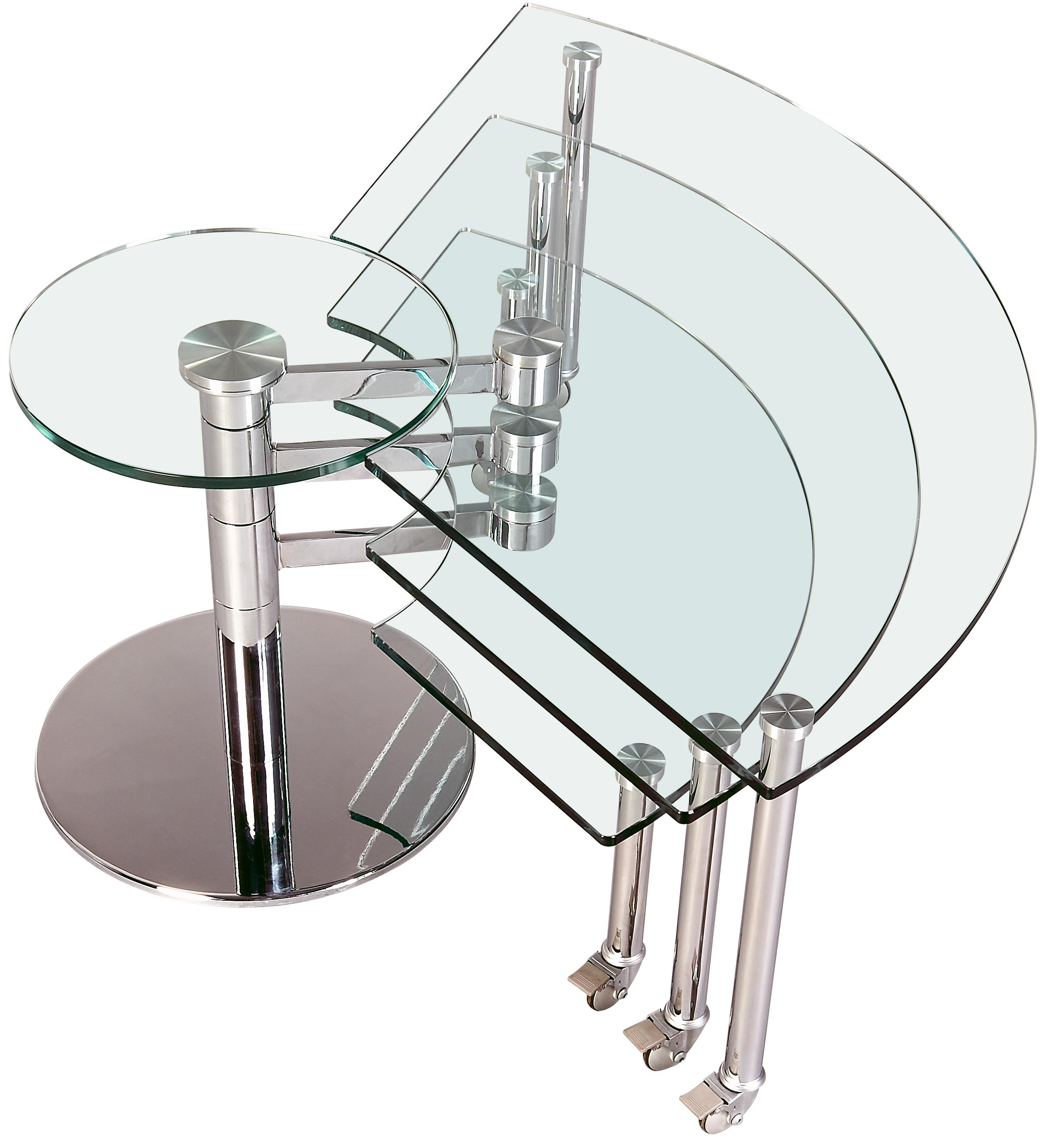 8160 Three Level Motion Cocktail Table by Chintaly Imports at Nassau Furniture and Mattress