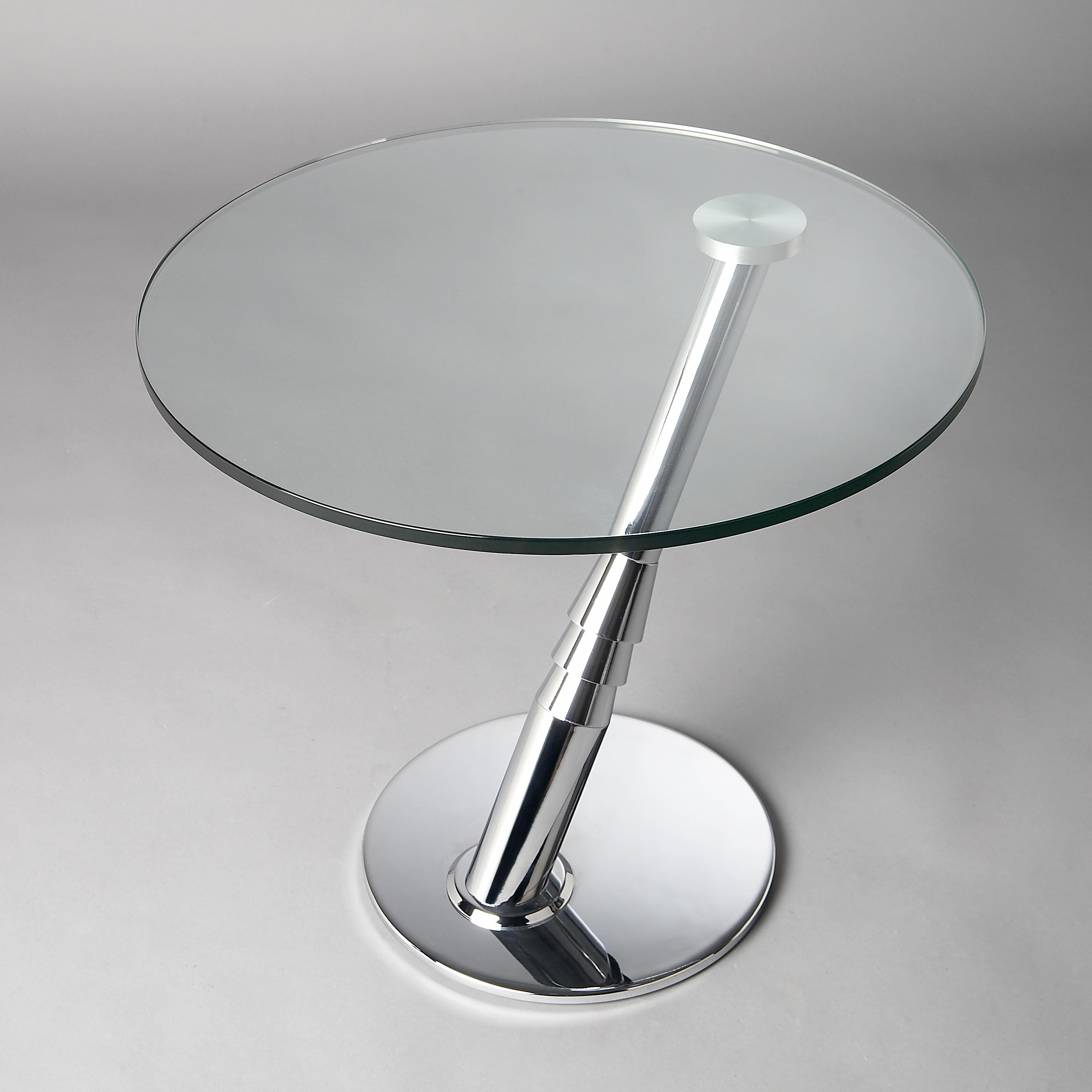 8160 Cocktail Glass Top Table by Chintaly Imports at Nassau Furniture and Mattress