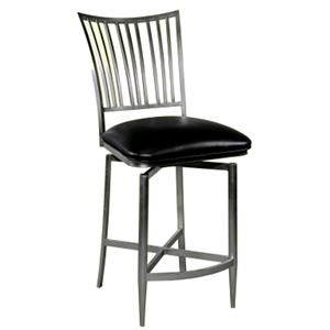 "41"" Fan Back Swivel Counter Stool"