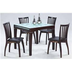Chintaly Imports Chantel  5-Piece Dining Table & Chair Set