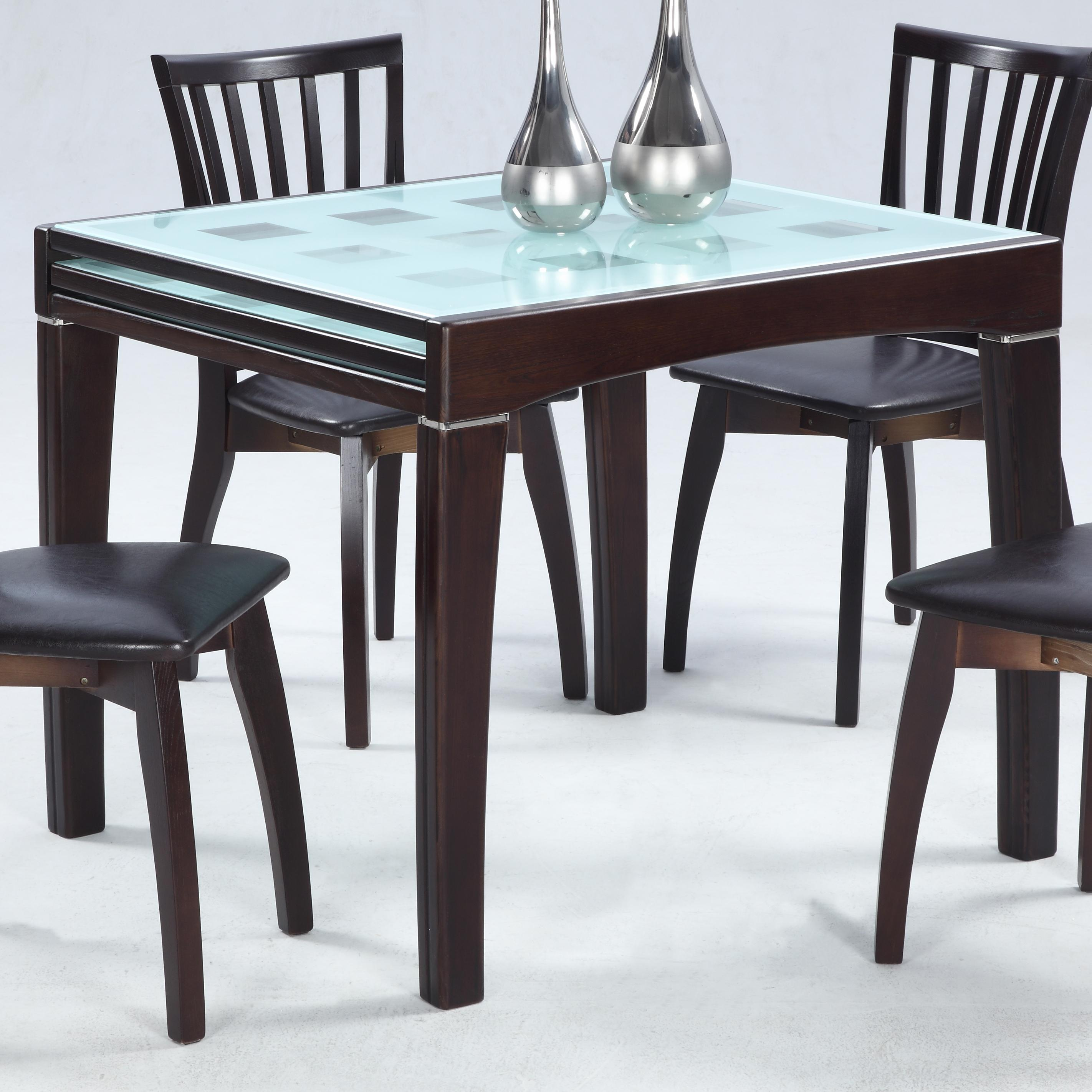 Chantel  Solid Oak Expandable Dining Table by Chintaly Imports at Nassau Furniture and Mattress