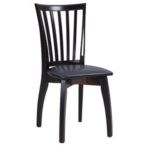 Chintaly Imports Chantel  Solid Oak Side Chair