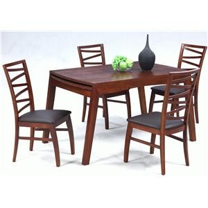 Solid Oak Dining Table with Extension