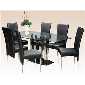 Chintaly Imports Cilla 7 Piece Table and Chair Set