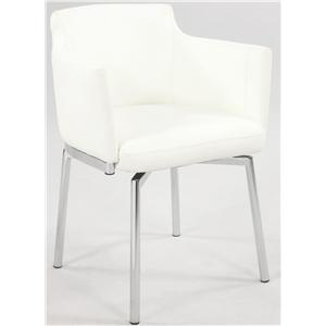 Chintaly Imports Dusty Club Style Swivel Arm Chair
