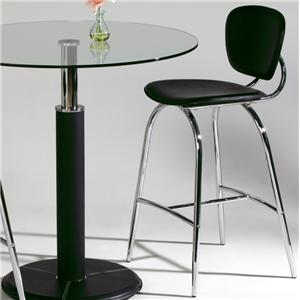 Counter Stool with Chrome Finish Legs
