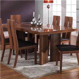 High Gloss Rectangular Top Dining Table