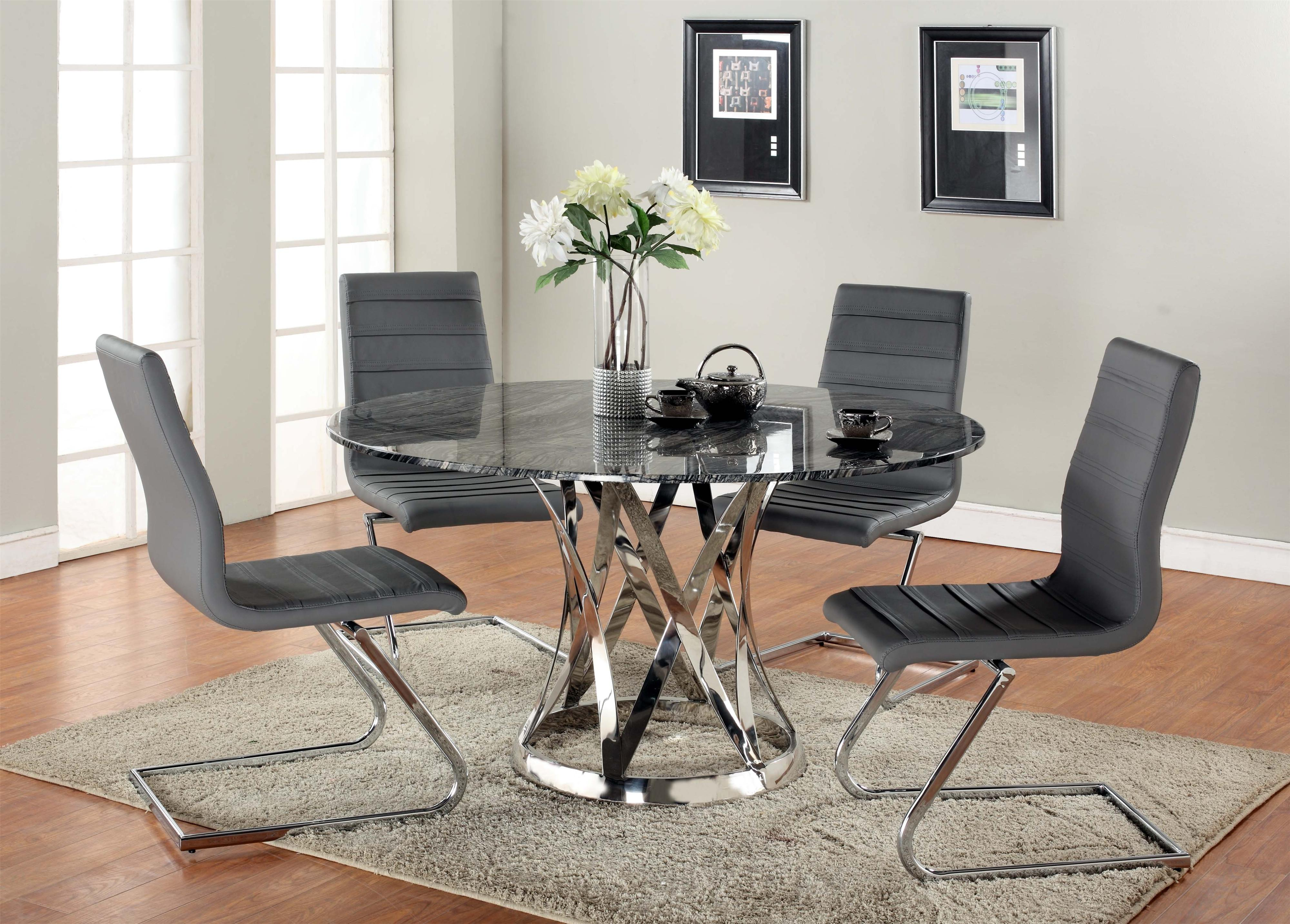 Janet Five-Piece Dining Set by Chintaly Imports at Nassau Furniture and Mattress