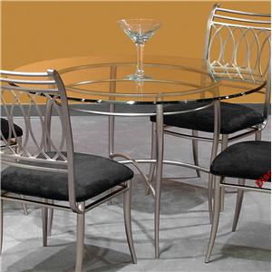 Metal Dining Table w/ Glass Top