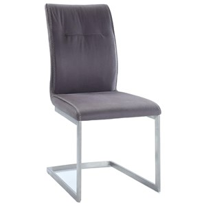 Upholstered Cantilever Side Chair
