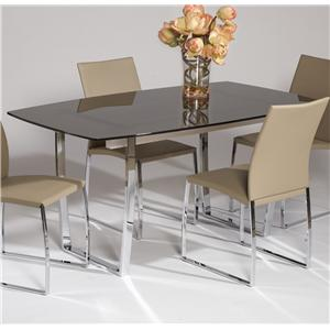 Chintaly Imports Marcy Glass Top Table