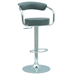 """Swivel and 25"""" to 33"""" Adjustable Height Stool with Chrome Base"""