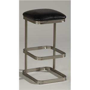 "26"" Backless Square Seat Counter Stool with Suede Upholstery"