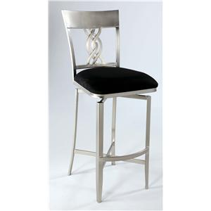 Swirl Back Memory Swivel Bar Stool