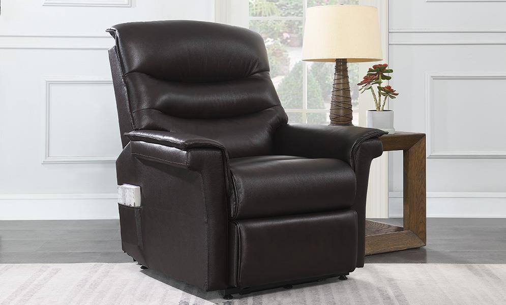 Comfort Motion Leather Match Zero Gravity Lift Chair by Chromcraft at Darvin Furniture