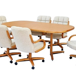 Square Round Rectangular Table w/ Twin Legs
