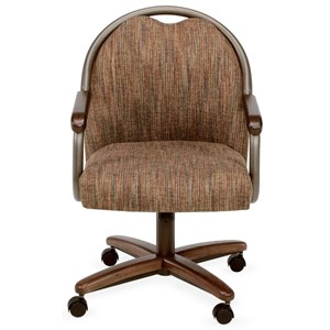 Dining Chair with Casters and Memory Foam